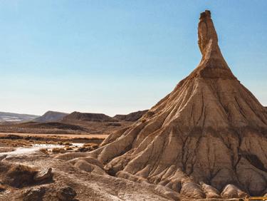 partir en randonnée dans le désert des Bardenas Reales en Espagne- échange de maison